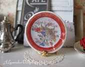 Oriental Peacock Plate for Dollhouse