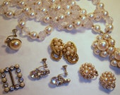 Vintage Rhinestone & Pearl Lot of Jewelry