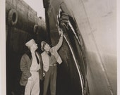 Captian Examining Damage US Coast Guard Photo Eastwind Cutter 1950s Military