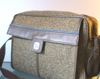 Vintage Emilio Pucci Airway Tweed Carryon Travel Bag