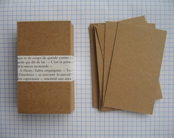 100 Rectangle Kraft  Business Cards,Blank Mini Note Cards