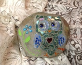 Mosaic owl rock