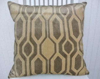 Grey Velvet Pillow Cover- NEW!! Geometric Velvet Pillow Cover--18x18 or 20x20 or 22x22- Accent Pillow