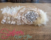 Something old to something new Heirloom Garter - Send us pieces of mother/grandmother's wedding gown and we make it into your wedding garter