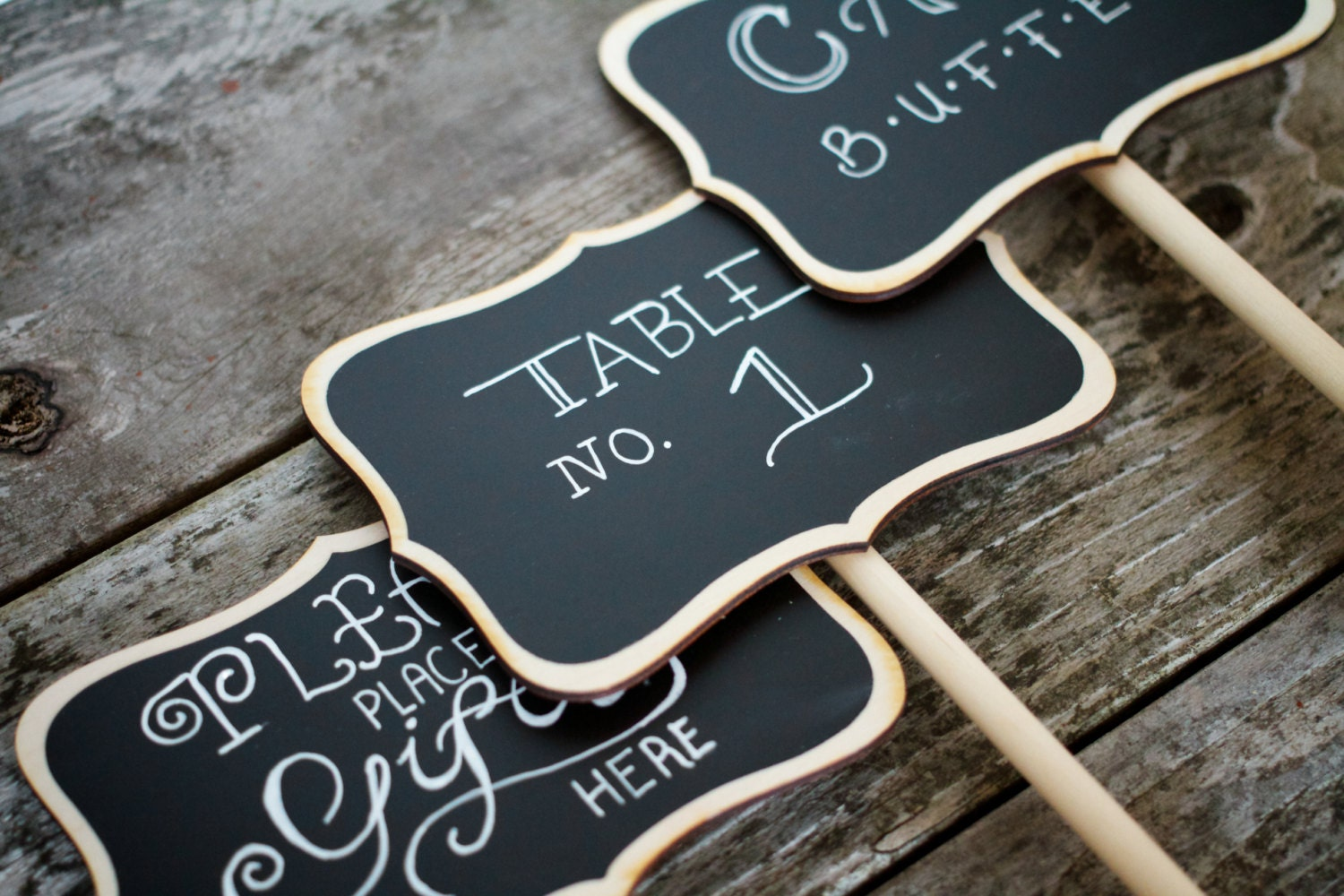 chalkboard table numbers ~ wedding chalkboard table number stands by charliechalkdesigns