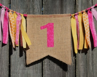 Custom Burlap Banner, Birthday Bunting Banner, You pick colors/theme, Birthday Photo Prop