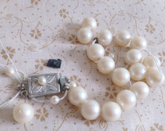 Broken Shell Pearl Bracelet with Clasp