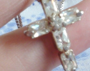 Small Crystal Cross on Chain