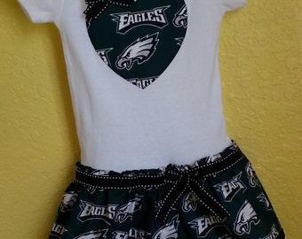 Philadelphia Eagles inspired cheerleader dress