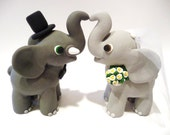 Elephant Wedding Cake Topper - Choose Your Colors
