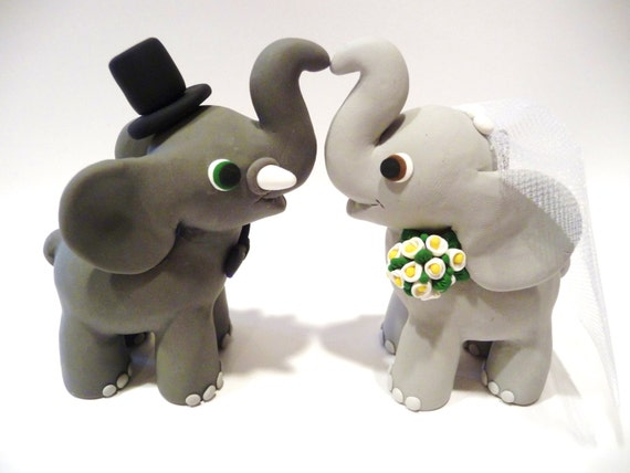 Elephant Wedding Elephant Wedding Cake Topper