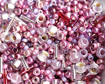 Toho Seed beads MIX - Pink Lilac - N 3215, rocailles, glass beads - 10g - S239