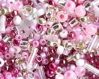 Pink Beads Mix, TOHO Seeds - Sakura Cherry - N 3214, rocailles, glass beads - 10g - S242