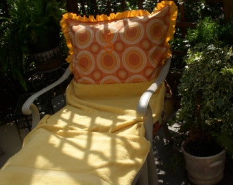 ADD NEW LIFE to your next garden party with these colorful chair covers.