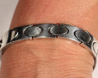 Vintage 70s Taxco Bracelet Sterling Bracelet  Modernist Bracelet Stamped