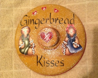 Gingerbread Up Cycled Metal Lid..Ginger Kitchen..Country Kitchen..Country Home..Ginger Lover..housewarming Gift..Wall Decor..Home Decor