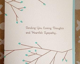 Sympathy Card - Condolence Card - Letterpress Sympathy Condolence Card