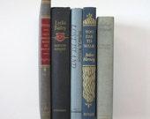 CLEARANCE Decorative Book Bundle of 5, Blue Shades, Interior Design, Home Decor