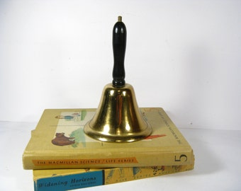 Vintage School Bell - Brass Teachers Bell