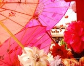 Chinatown Parasols, Flowers, Paper Umbrellas, Downtown Los Angeles 8x8, 10x10,12x12, 20x20 Fine Art Travel Photograph