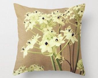 Flower Home Decor, Flower Throw Pillow, Shabby Chic Throw Pillow, 18x18 22x22 Cushion Cover, Home Decor Throw Pillow, Botanical Garden
