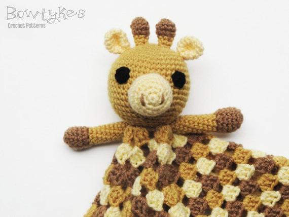 Giraffe Lovey Crochet Pattern Instant Download Blankey