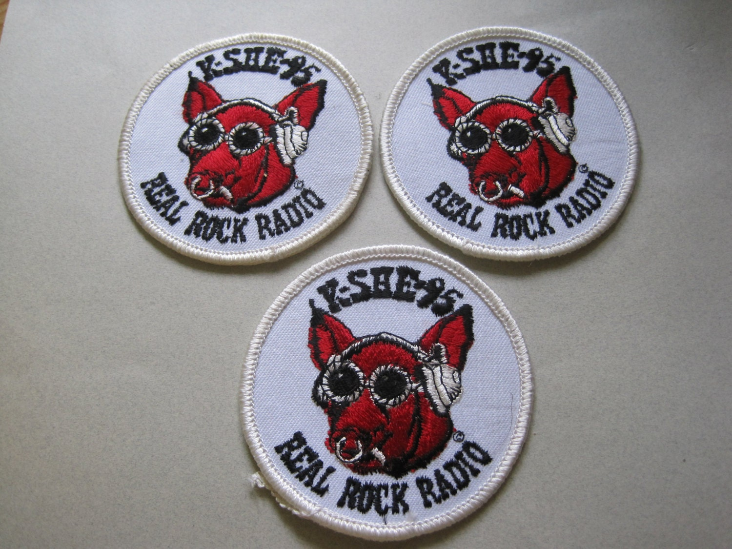 Vintage Rare 1970s Kshe 95 Real Rock Pig Sweetmeat Logo With