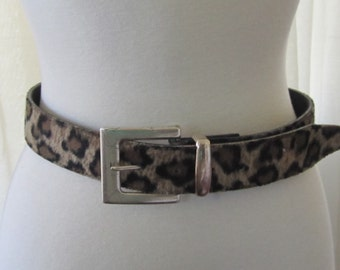 Fuzzy Animal Print Belt Leopard Print 80s  Absolutely Fresh by Prestige