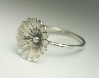 Flower Ring, Sterling Silver Flower Ring, Statement Ring, Made to order, Handmade Ring, Flower Ring Silver, Flower Ring Sterling Silver