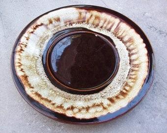 Pfaltzgraff Brown Drip Pottery Saucer  ~  Pfaltzgraff Replacement Piece