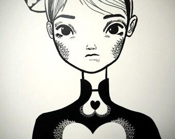 The White Queen - A3 art print