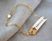 Classic Medical ID Bracelet - Customize - Hand Stamped - Epilepsy - Diabetes