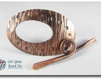 Textured Copper Toggle Clasp