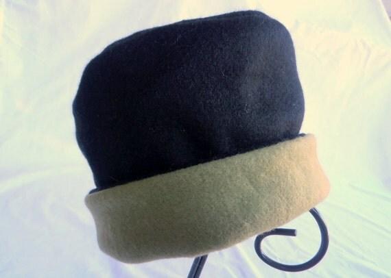 Fleece Hat, Roll Brim Hat, Black Hat, Sage Hat, Green Hat, Soft and Warm Hat