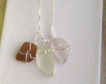 Handmade Seaglass Charm Necklace