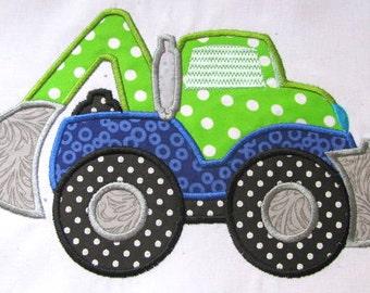 Construction Truck 04 Machine Applique Embroidery Design - 5x7 & 6x8