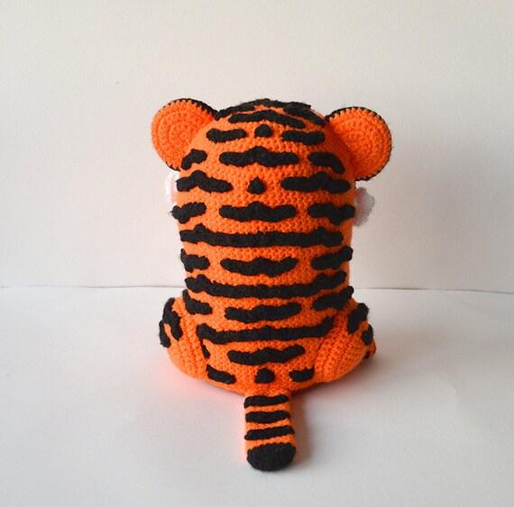 Tiger Crochet Pattern, Amigurumi Tiger Pattern, Tiger