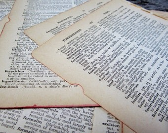 Antique & Vintage Dictionary Pages Collection of 50 Altered Art or Scrapbooking Antique Paper