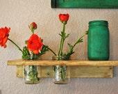 Double Mason Jar Shelf