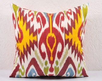 "Sale! Ikat Pillow, 20"" Ikat Pillow Cover - A531-1AA3, Ikat throw pillows, Designer pillows, Ikat Pillow, Decorative pillows, Accent pillows"
