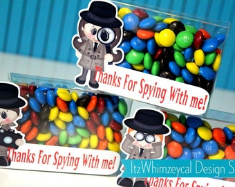 Secret Agent Party / Spyglass / Birthday Party Favor / Gifts / Candy Container / Candy Buffet / Party Favor Boxes / Kids Favor / Centerpiece