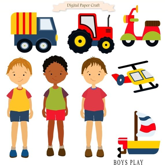 Transport clipart, Boys clipart, Instant download