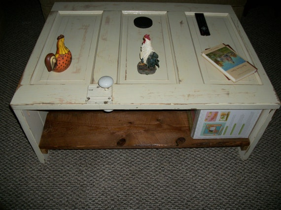Items Similar To Vintage Door Handmade Coffee Table On Etsy