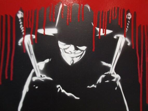 Amazoncom V For Vendetta Graffiti Movie Poster