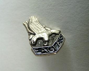 Vintage Silver Eagles Lapel Pin / Button
