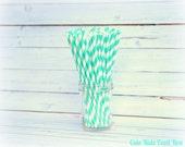 AQUA Paper Straws - Set of 25 - Paper Straws - SIPPY STRAWS - Paper Straws