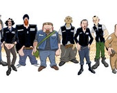 Cast of Sons of Anarchy caricature.
