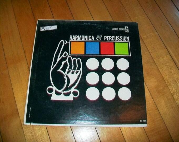 Harmonica & Percussion Record Album Boris Draper Vintage 1960s CX 137