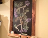 The Board of Awesomeness Chalkboard Framed with Old Barnwood