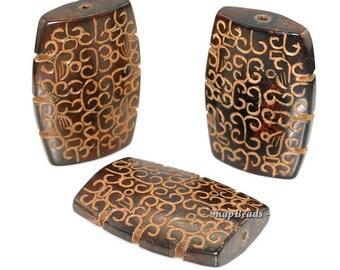 Gigantic Jadeite Gemstone Carved Baroque Rectangle 58x40mm Loose Beads 1 Bead (90147647-281)